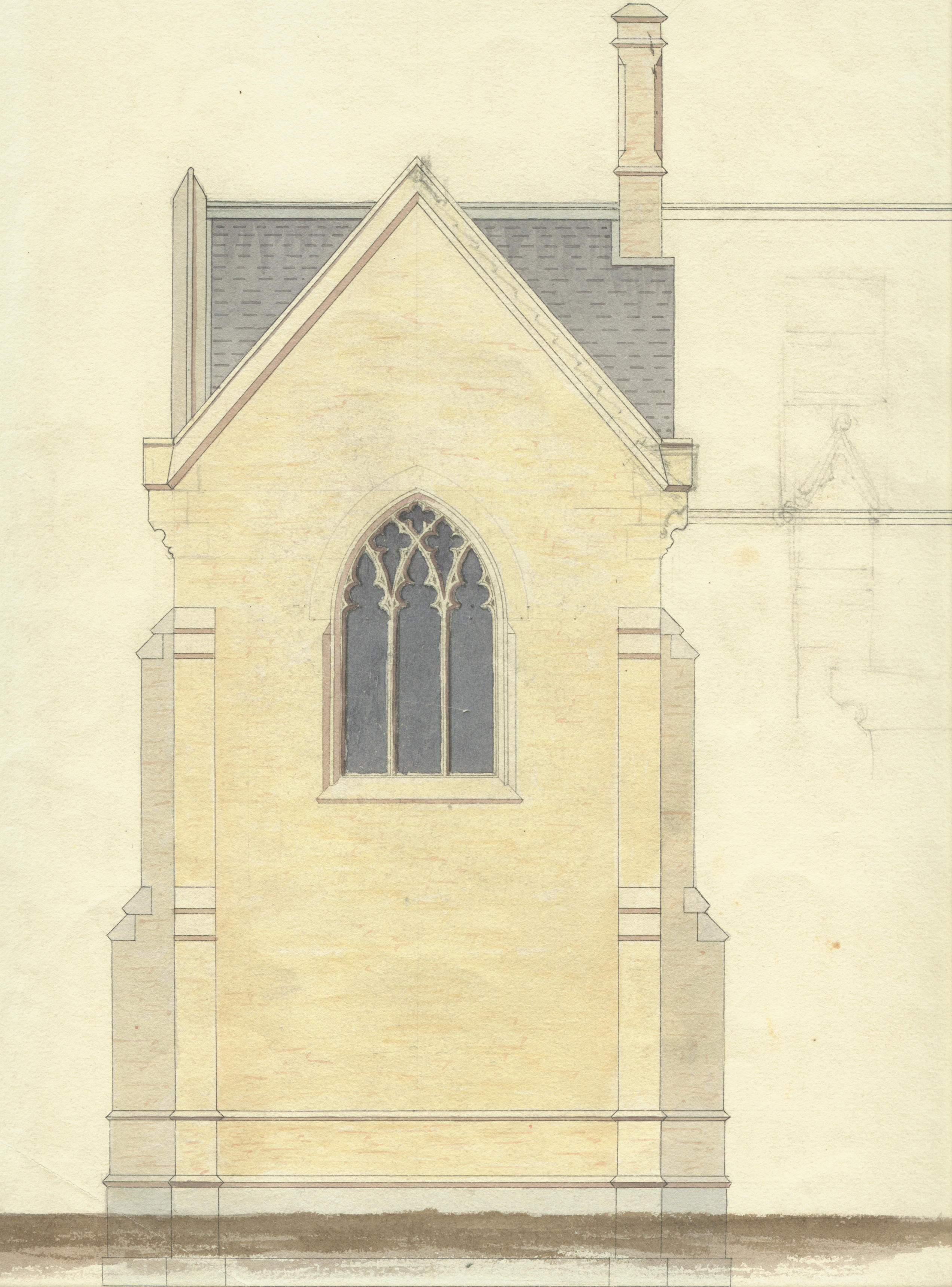 Proposed Museum, end elevation