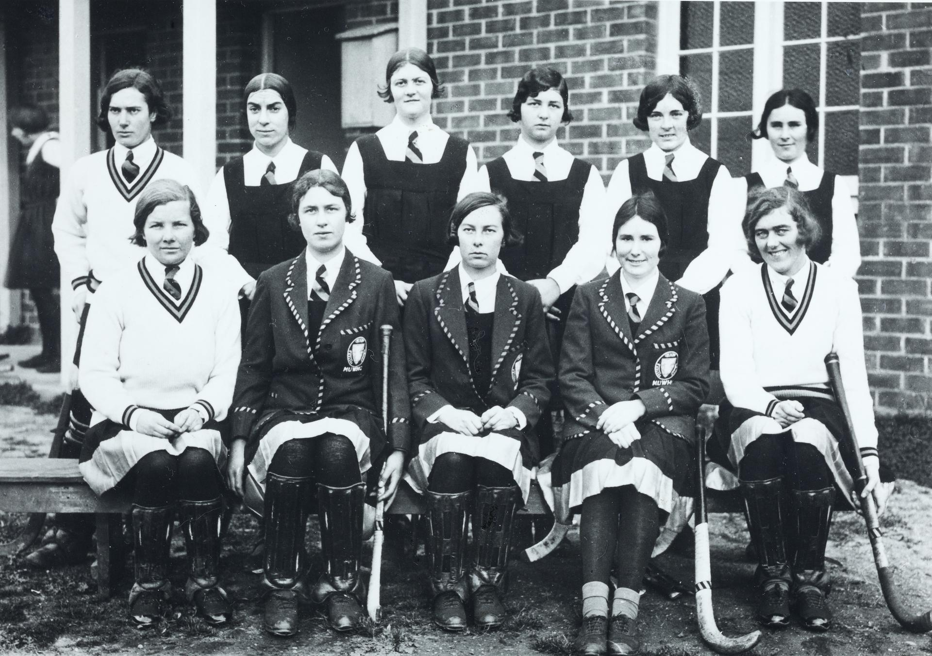 Barbara Falk (left, back row)