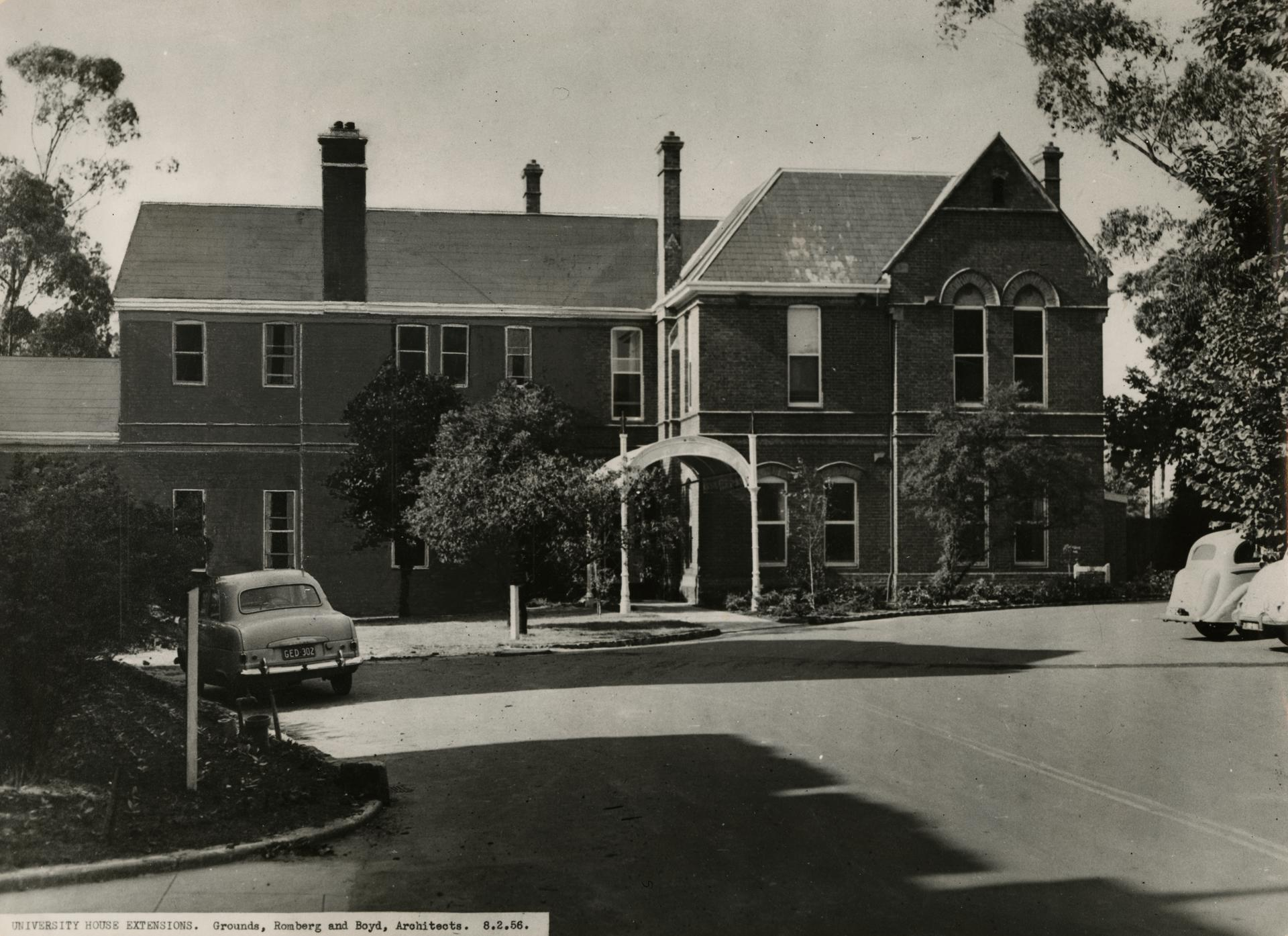 University House extensions, 1956
