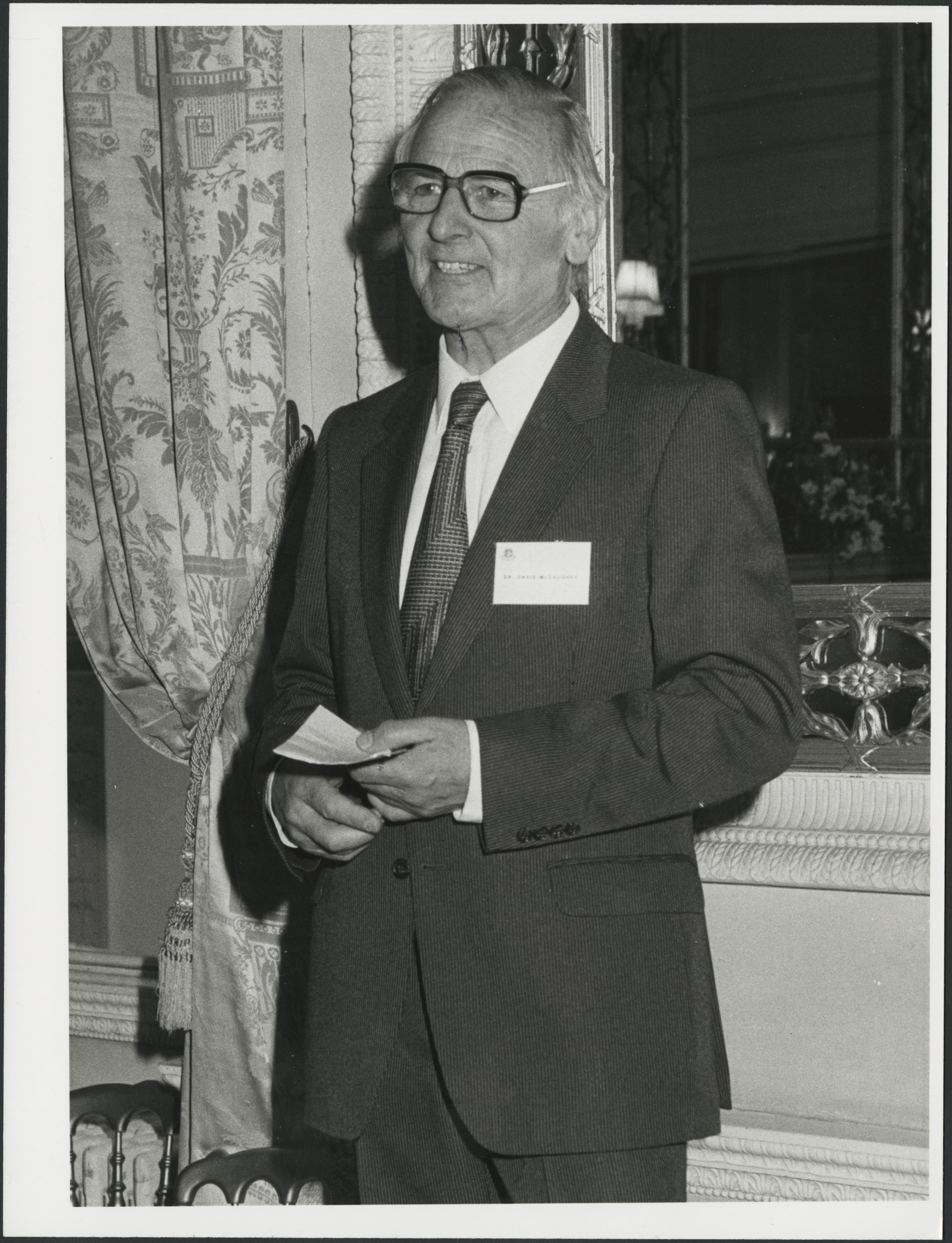 Davis McCaughey was later Deputy Chancellor, 1983