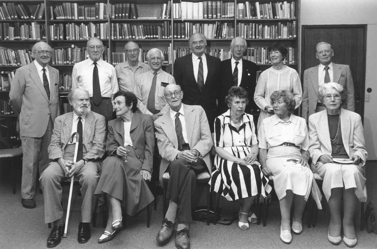 Barbara Falk (second from left, front) with History Reunion group