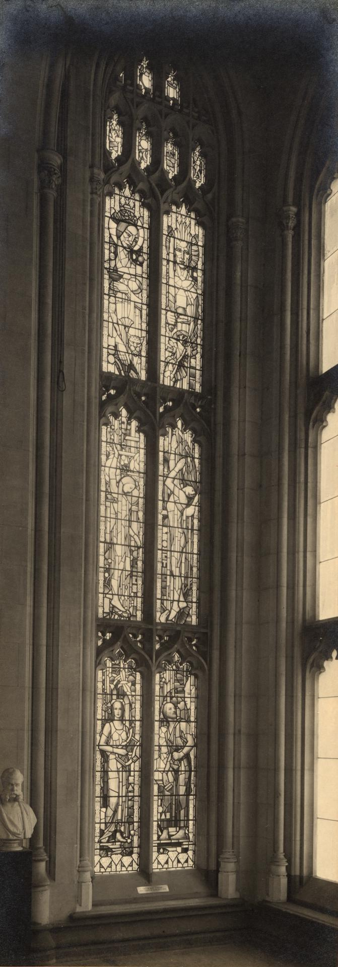 Leckie window, Old Wilson Hall, c1935