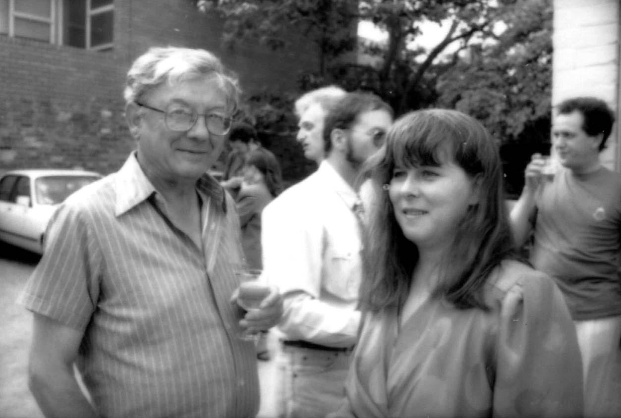 Meanjin Editor, Jenny Lee, with poet Evan Jones