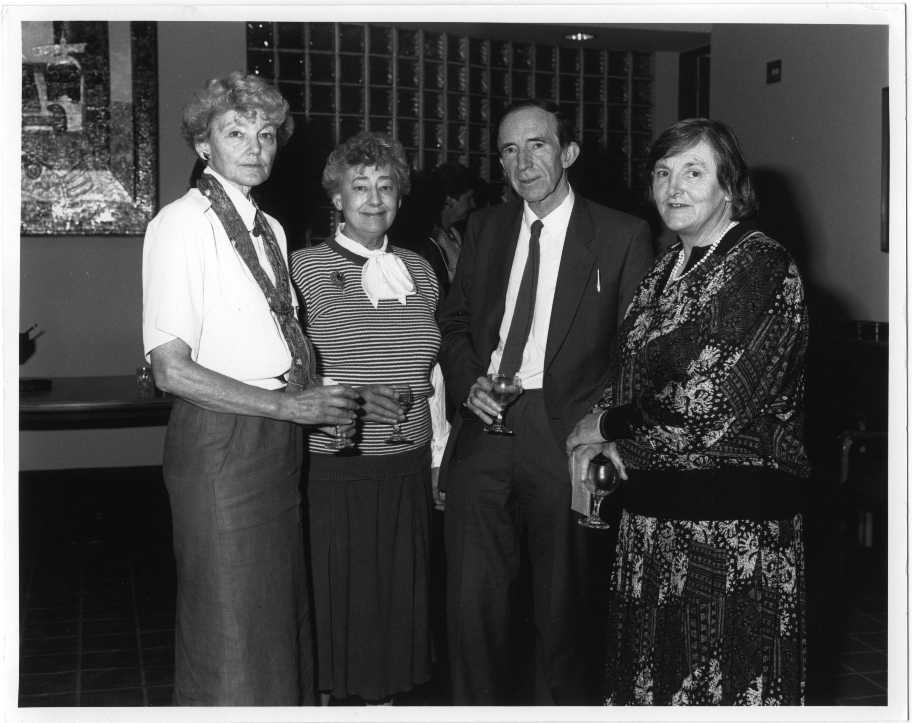 Board of Social Studies, 1988, including Dr Len Tierney, and (right) Fay Marles