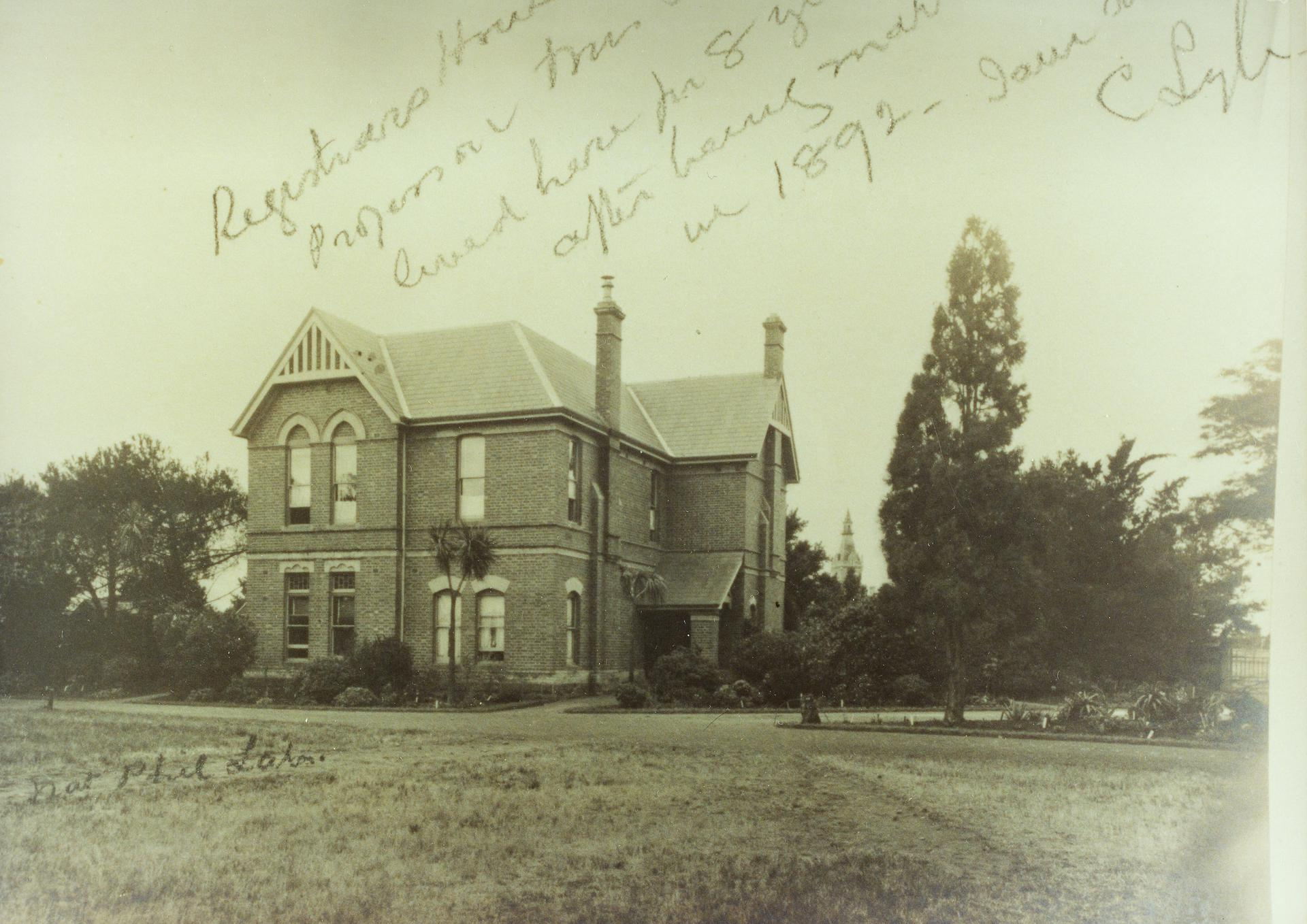 Registrar's House, 1892