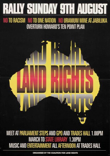 'Land Rights (Palm Sunday Rally, Coalition for Land Rights) undated, Posters compiled by Campaign for International Co-operation and Disarmament, 2010.0009.00369