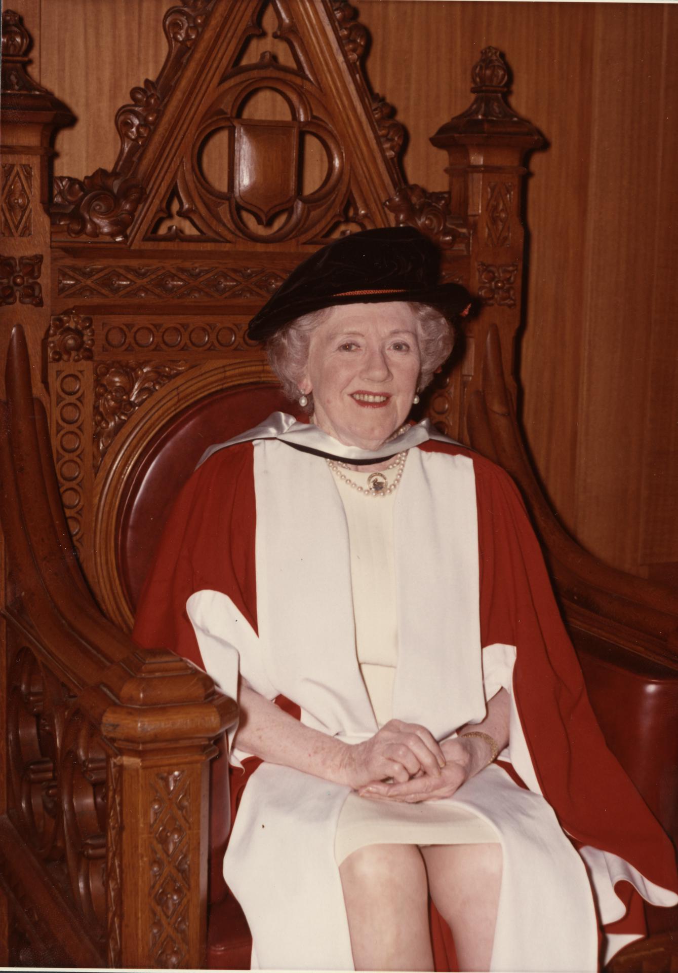 Dame Hilda Stevenson, 1973