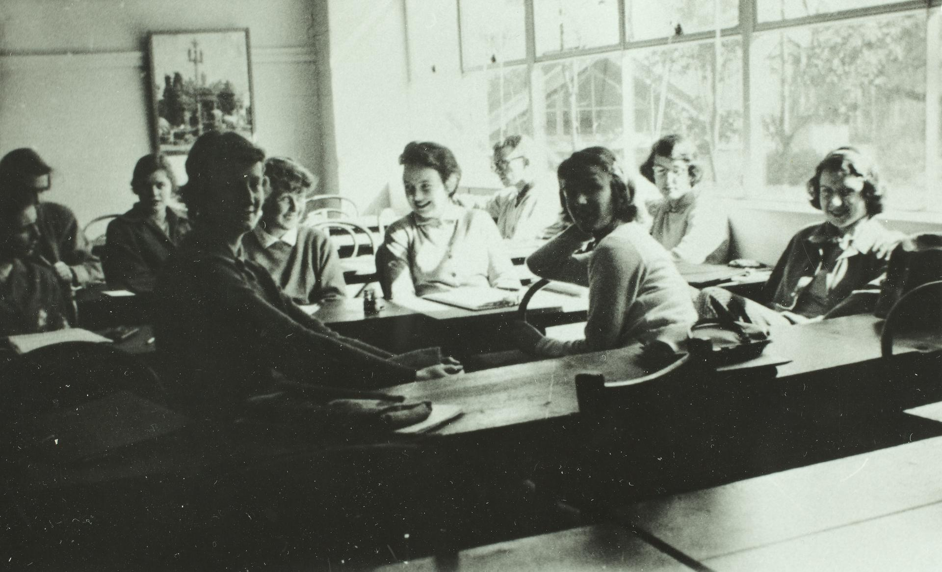 Social Work students, 1958