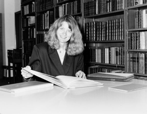Smith, Merete, Rare books Librarian, Baillieu Library, May 1992, University of Melbourne. Office of Media & Publications Unit Collection, University of Melbourne Archives, 2003.0003.00221