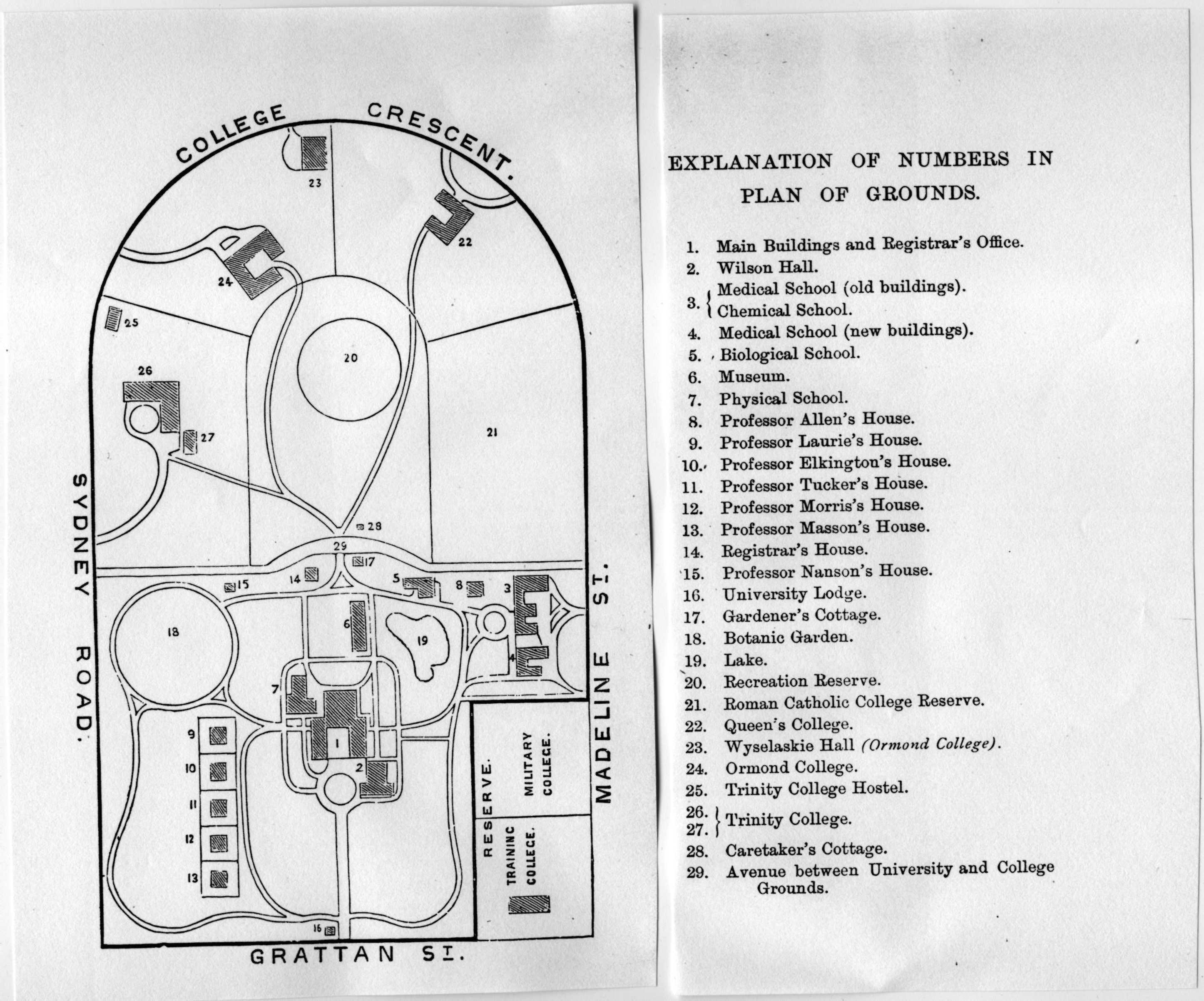 Campus plan, 1897