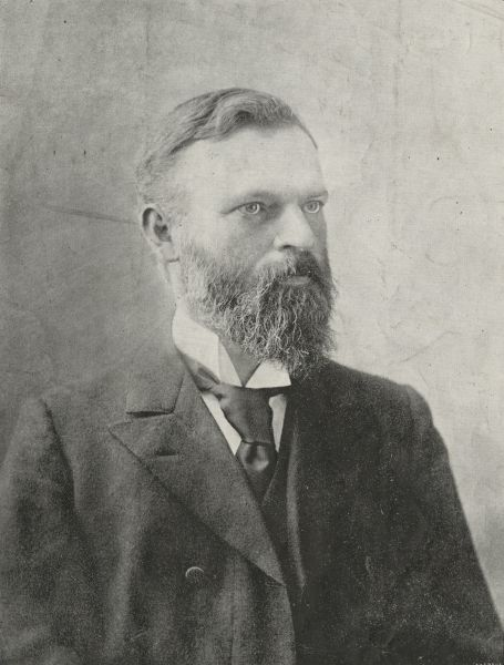 Profile of Sir Harry Brookes Allen, University of Melbourne, circa 1896, University of Melbourne Photographs, 2017.0071.00633