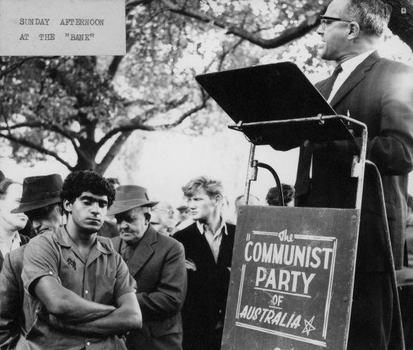 1991.0152.00099 'Bernie Taft addressing listeners at Yarra Bank in Melbourne, on behalf of the Communist Party' by John Brant Ellis