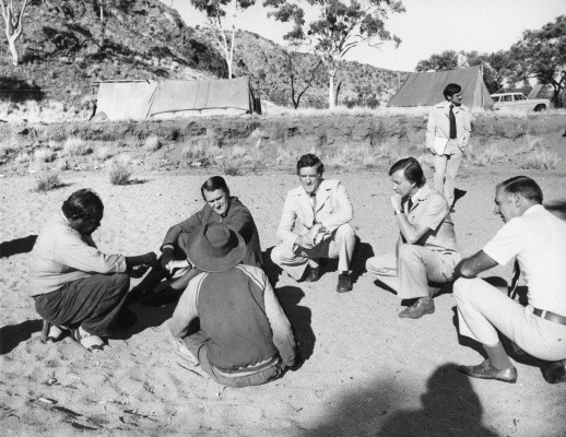 Malcolm Fraser and others speaking with Aboriginal Australian representatives
