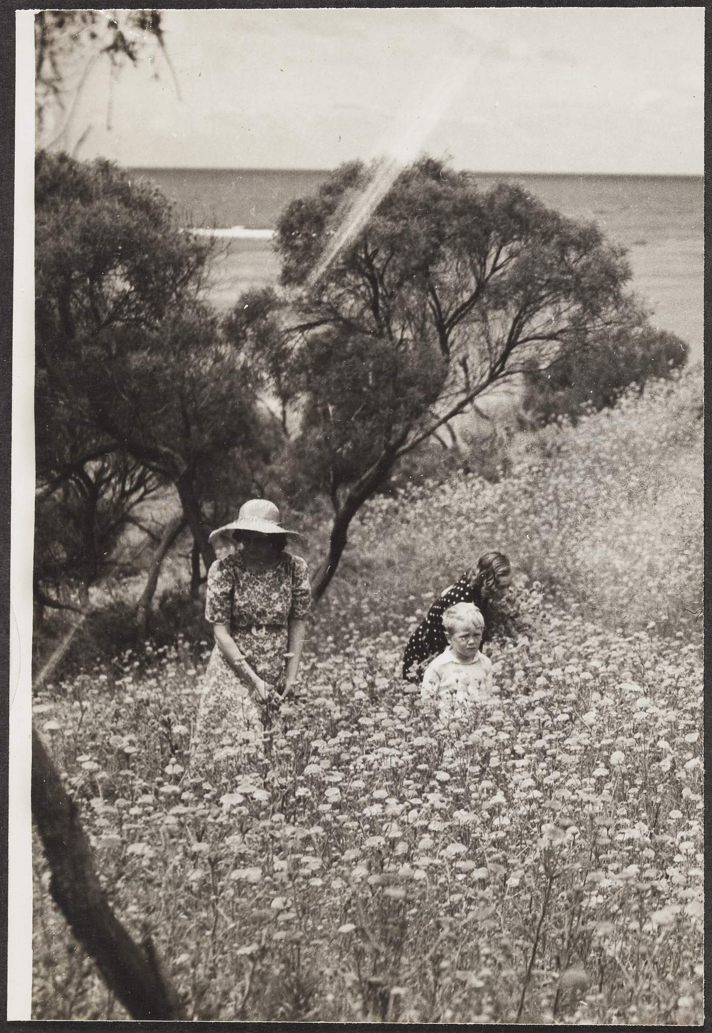 """Woman and children at Rottnest Island< WA"", c.1920-1950, Commercial Travellers' Association, 1979.0162.02505."