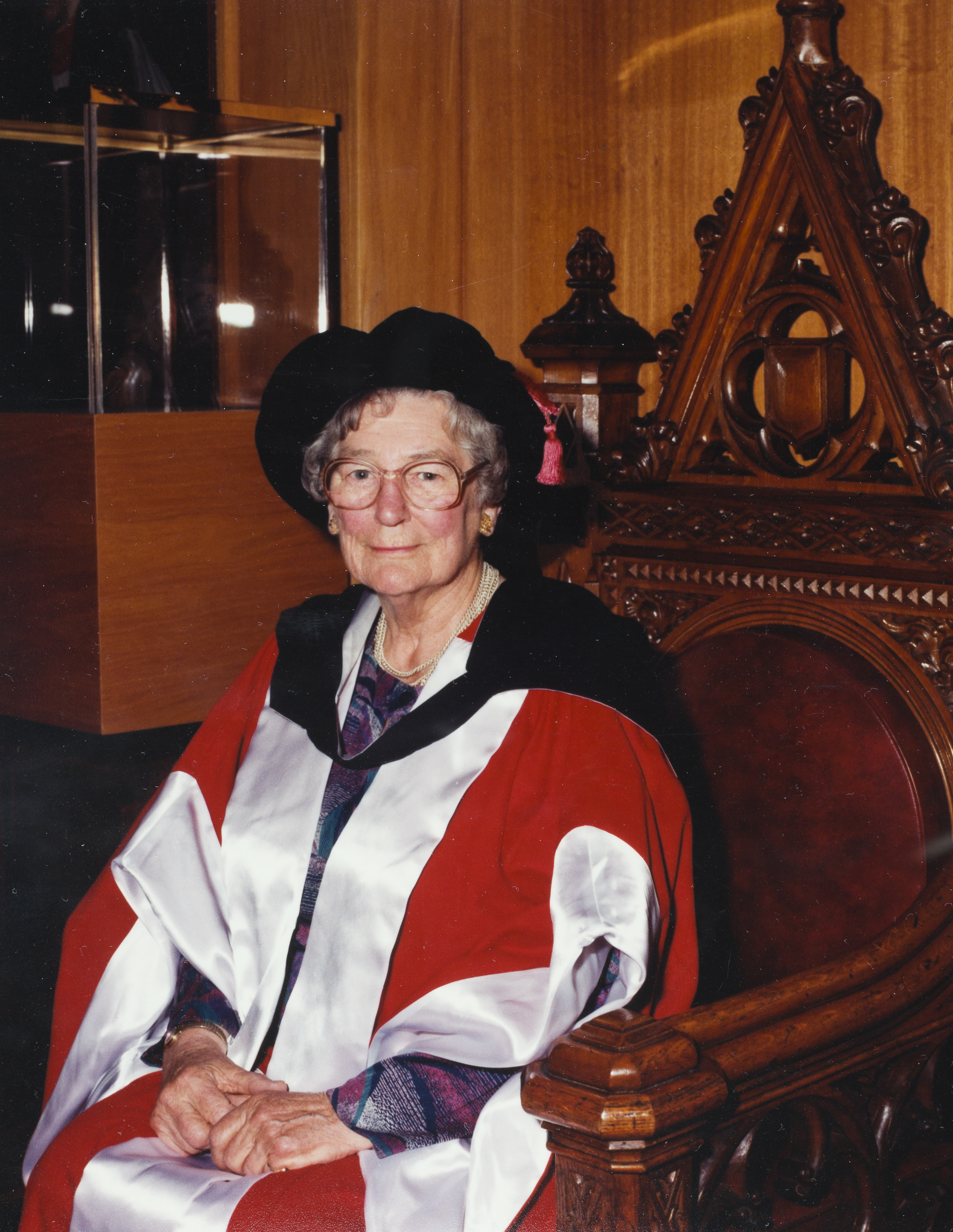 Upon the conferral of her degree of Doctor of Laws honoris causa. Norman, Wodetzki,
