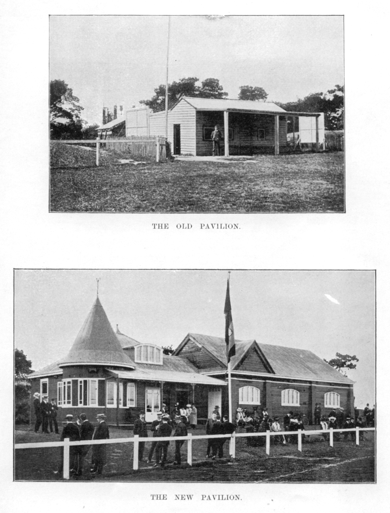 Old pavilion and new pavilion