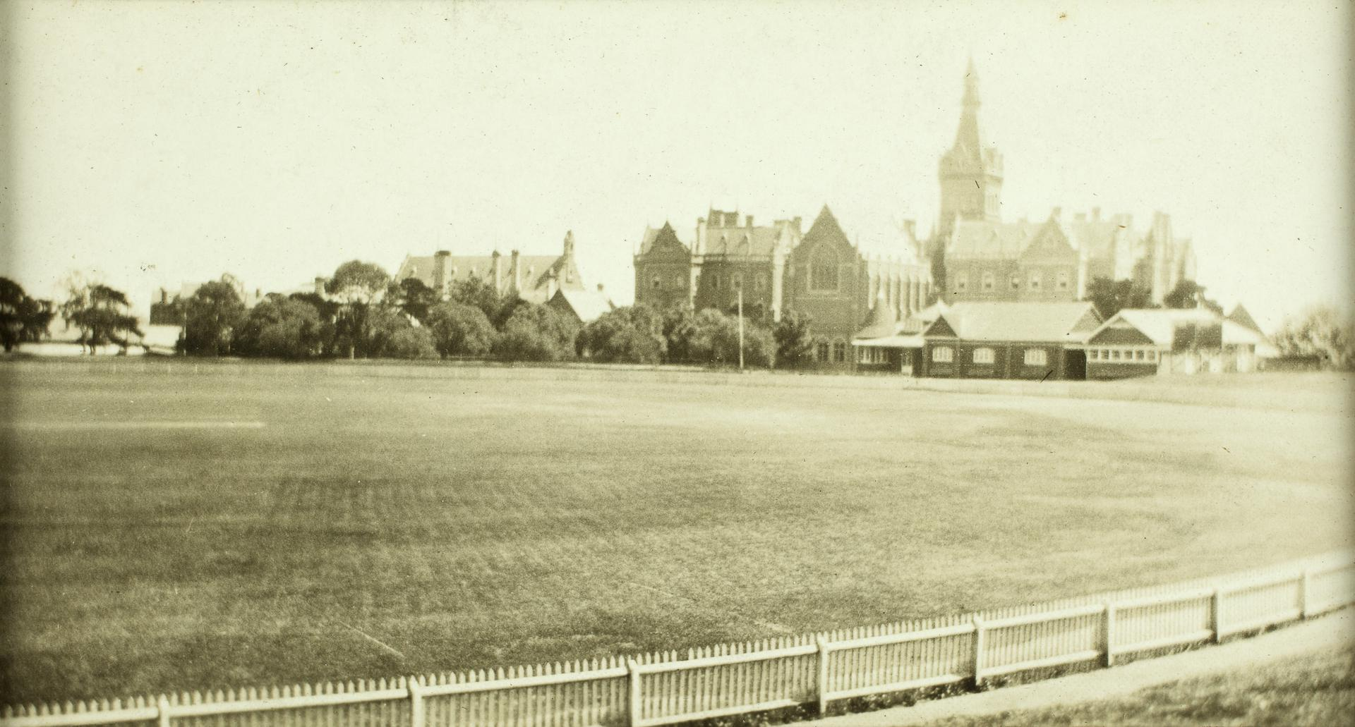 University oval in the 1920s