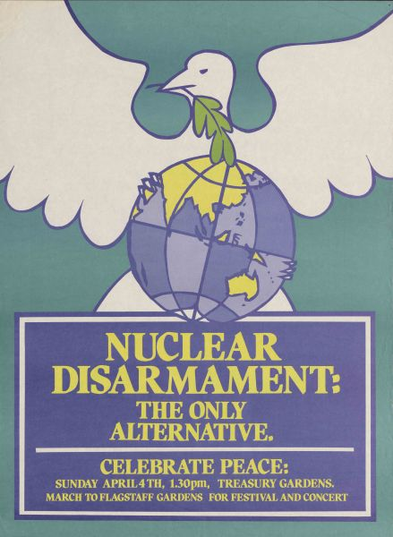 2010.0009.00055 'Nuclear Disarmament the only alternative' undated, Posters compiled by Campaign for International Co-operation and Disarmament, 2010.0009.00055