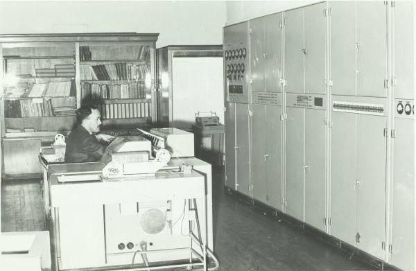 CSIRAC computer, University of Melbourne, circa 1958, 2017.0071.00157.