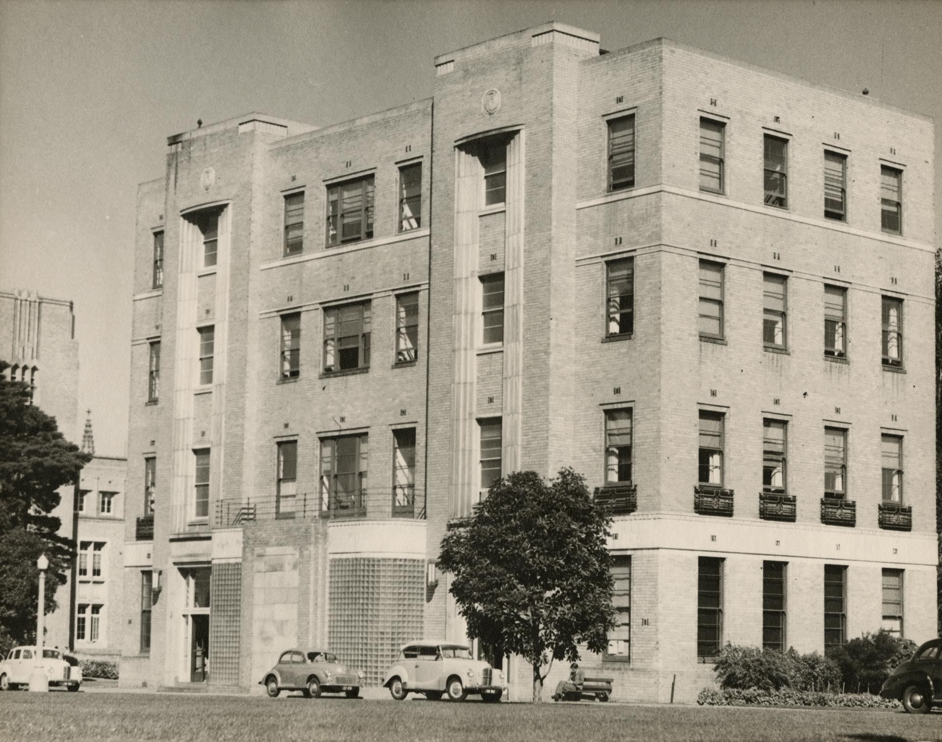 View of eastern end of the Commerce building, c1955
