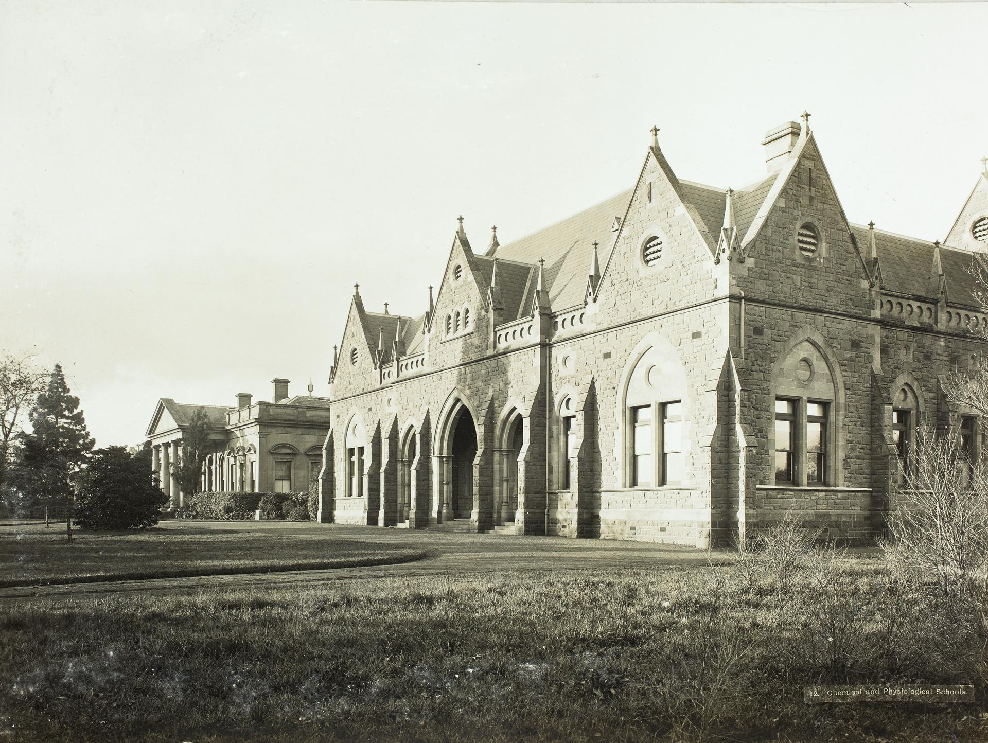 View of old and 'new' Medical School, c1901